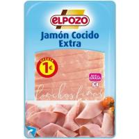 Jamón cocido lonchas finas ELPOZO, bandeja 100 g