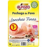 Pechuga de pavo lonchas finas ELPOZO, bandeja 100 g