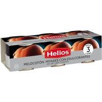 Melocotón en almíbar sin azúcar HELIOS, pack 3x115 g