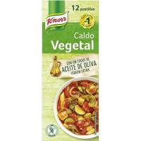Caldo vegetal KNORR, 12 pastillas, caja 120 g