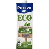 Leche Semidesnatada Ecológica PULEVA, brik 1 litro