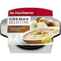 Crema de boletus LA COCINERA C. Selectas, tarrina 230 g