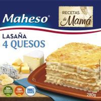 Lasaña 4 Quesos MAHESO, caja 280 g