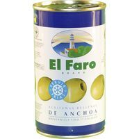 Aceitunas rellenas de anchoa EL FARO, lata 150 g