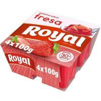 Gelatina de fresa ROYAL, pack 4x100 g