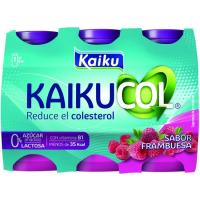Benecol Zero para beber de frambuesa KAIKU, pack 6x65 ml