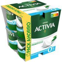Activia 0% natural edulcorado DANONE, pack 8x125 g