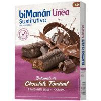 Batonnets de chocolate fondant BIMANANLINEA, caja 186 g