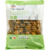 Aceitunas con hueso EROSKI basic, pack 3x100 g