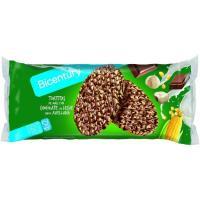 Tortitas de maíz chocolate con leche BICENTURY, paquete 108g