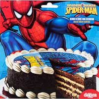 Disco de azúcar 16 cm Spiderman, sobre 25 g