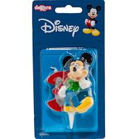 Vela Nº3 Mickey 6,5 cm, pack 36 g
