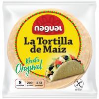 Tortilla mexicana de maíz sin gluten NAGUAL, paquete 230 g