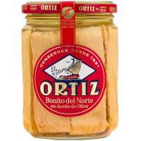 Bonito del norte en aceite de oliva ORTIZ, frasco 400 g