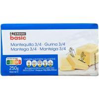Mantequilla EROSKI basic, bloque 250 g