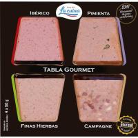Tabla de paté tradicional LA CUINA, pack 4x50 g