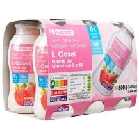 Activita desnatado de fresa EROSKI, pack 6x100 ml
