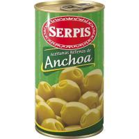 Aceitunas rellenas de anchoa EL SERPIS, lata 150 g