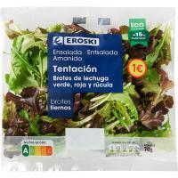 Ensalada de brotes tentación EROSKI, bolsa 70 g
