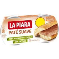 Paté suave sólo Natural LA PIARA, pack 2x75 g