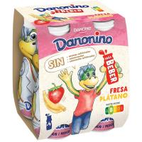 Bebedino de fresa-plátano DANONE, pack 4x100 ml