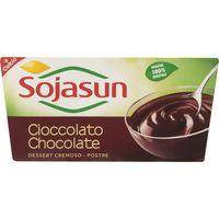Postre soja chocolate SOJASUN, pack 2x100 g
