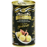 Aceitunas rellenas de anchoa LA EXPLANADA Gourmet, lata 150 g