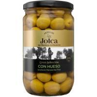 Aceitunas artesanas verdes con hueso JOLCA, frasco 420 g