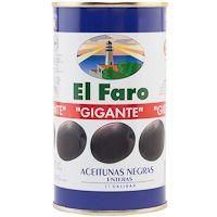Aceitunas negras con hueso FARO, lata 150 g