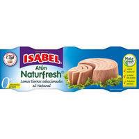 Atún al natural ISABEL Naturfresh, pack 3x52 g