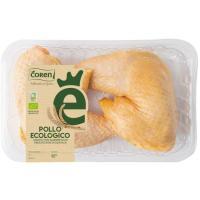 Muslos de pollo ecológico COREN, bandeja aprox. 620 g