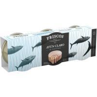Atún claro natural FRISCOS, pack 3x56 g