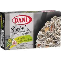 Surimi al ajillo en aceite de oliva DANI, lata 50 g