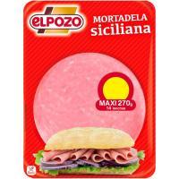 Mortadela siciliana ELPOZO, bandeja 300 g