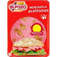 Mortadela con aceitunas ELPOZO, bandeja 300 g