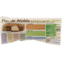 Pan de molde sin gluten ADPAN, paquete 600 g