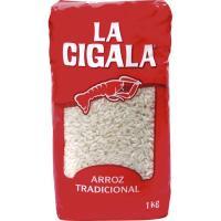 Arroz redondo tradicional LA CIGALA, paquete 1 kg
