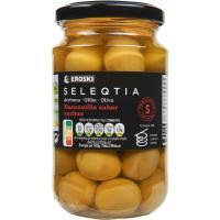 Aceitunas sabor anchoa Eroski SELEQTIA, frasco 200 g