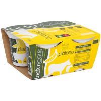 Yogur de plátano LACTUYOGUR, pack 4x125 g