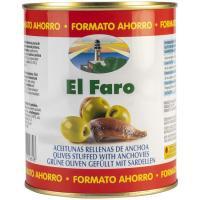 Aceitunas rellenas de anchoa EL FARO, lata 345 g