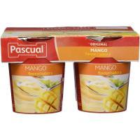 Yogur de mango PASCUAL, pack 4x125 g