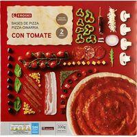 Base de pizza con tomate EROSKI, caja 330 g