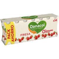 Danacol para beber de fresa DANONE, pack 14x100 ml