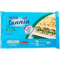 Lasaña vegetal EROSKI Sannia, bandeja 500 g