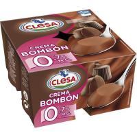 Crema bombón 0,7% CLESA, pack 4 x 125 g