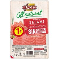 Salami ELPOZO All Natural, bandeja 80 g