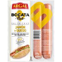 Salchichas bocata de jamón-queso ARGAL, sobre 230 g