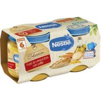 Tarrito de verduras-pollo NESTLÉ Naturnes, pack 2x200 g