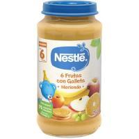 Tarrito merienda 6 frutas-galleta NESTLÉ Naturnes, tarro 250 g