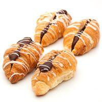 Mini croissant relleno de cacao EROS, 8+4u Gratis, bandeja 360 g